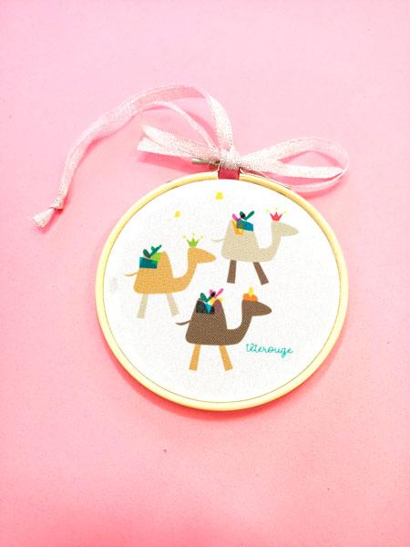 Camellos del belén de Navidad Tete Rouge