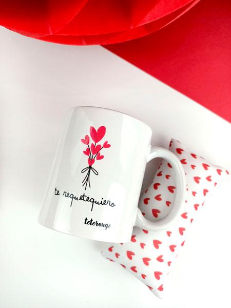 Detalle taza te requetequiero-tete-rouge