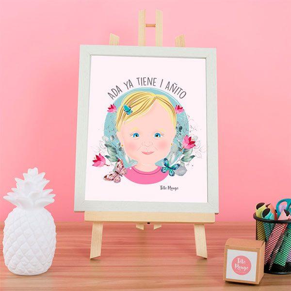 Lamina retrato de bebe Personalizada Tete Rouge