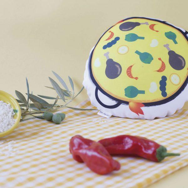 Tete Rouge Cojin Paella Detalle en la Cocina