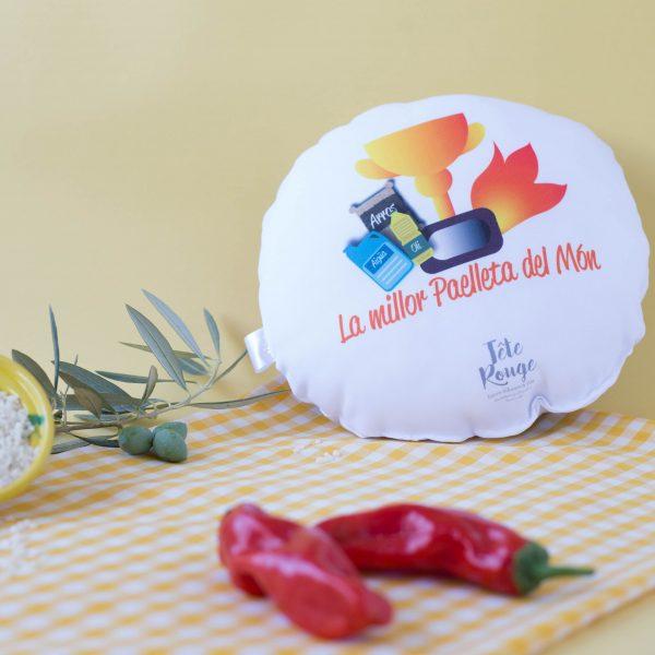 Tete Rouge Cojin Paella por Detras