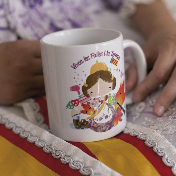 Tete Rouge Taza Personalizada para Fallera