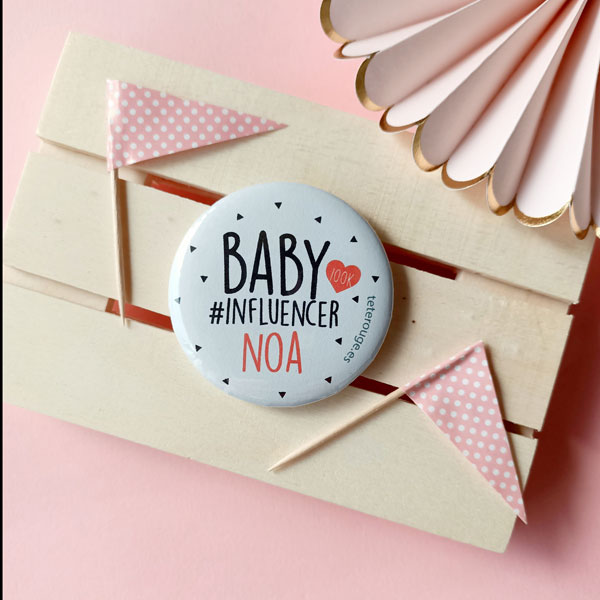 chapa personalizada baby influencer tete rouge