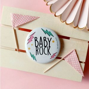 chapa personalizada baby rock color blanco tete rouge