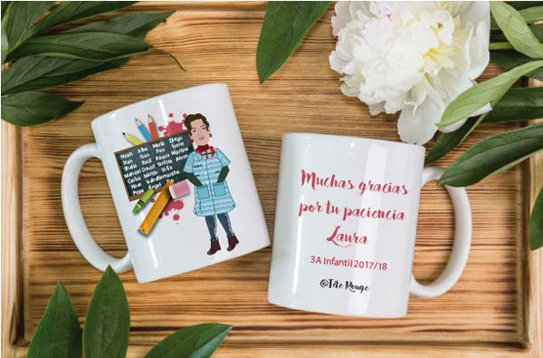 tete rouge taza para la maestra personalizada