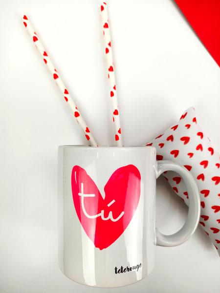 taza corazon yo tete rouge